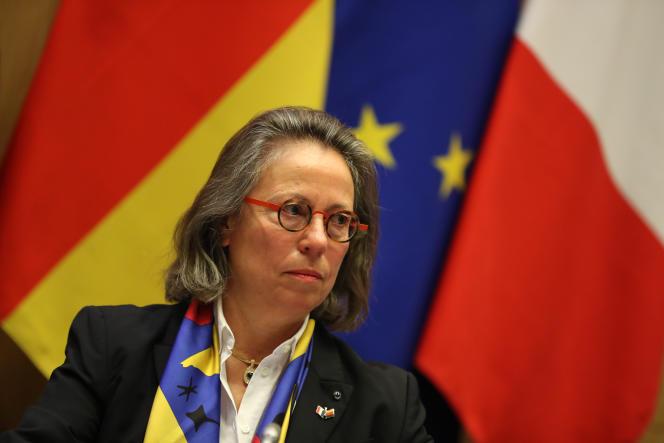 La présidente de la commission des affaires européennes de l'Assemblée nationale, Sabine Thillaye, à Paris, le 25 mars 2019.