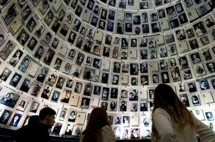 Au mémorial deYad Vashem, le 20 janvier 2020.