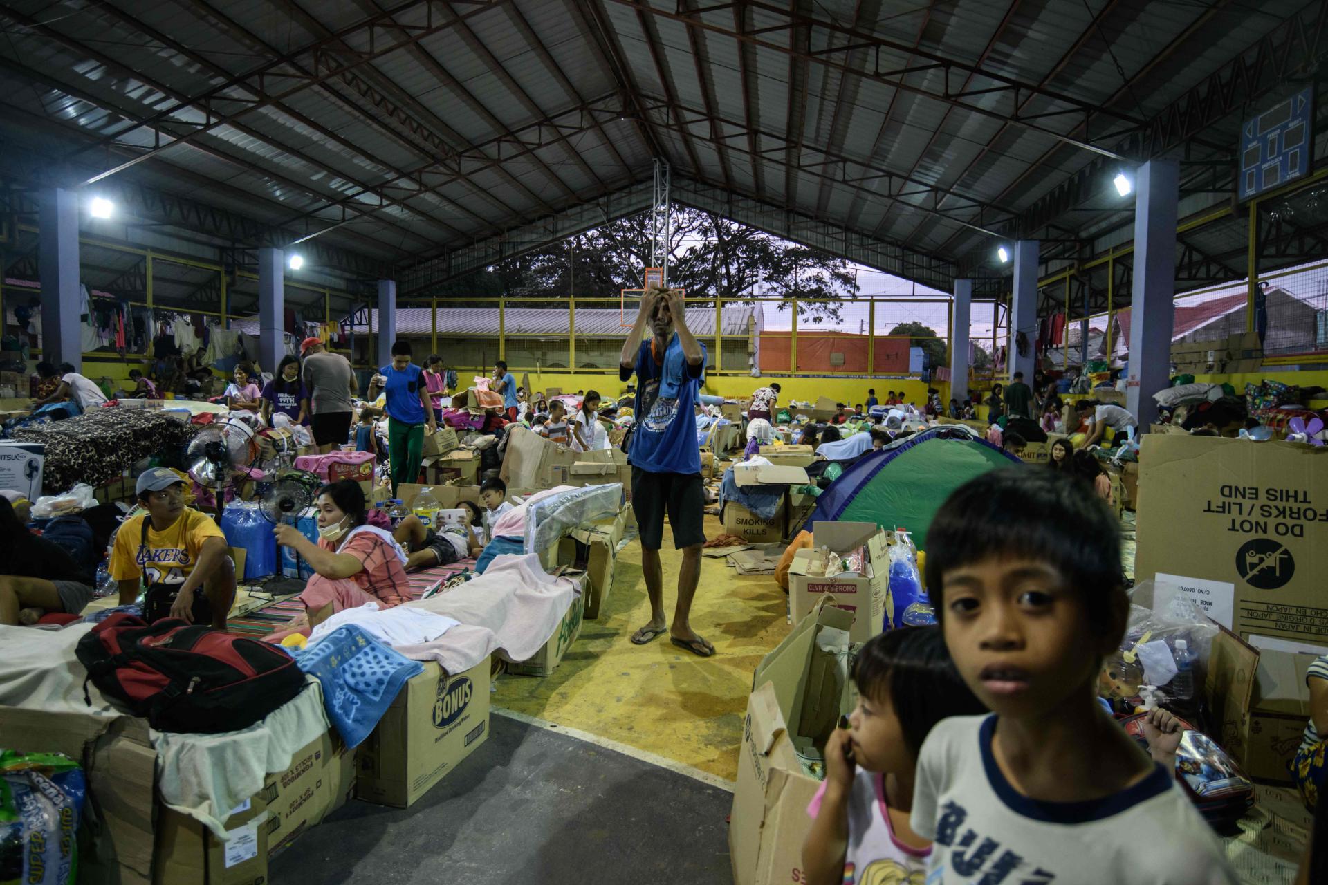 Un abri d'urgence à Santo Tomas, le 20 janvier.