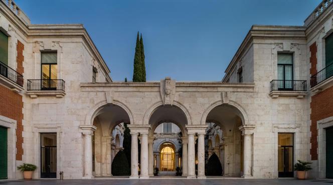 Vue de l'école française située à Madrid : la Casa de Velazquez accueille des artistes contemporains en résidence.