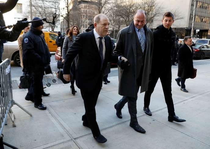 Harvey Weinstein arrive à son procès à New York, le 23 janvier.
