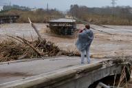 Un pont s'est écroulé à Malgrat de Mar, près de Girone, le 22 janvier.