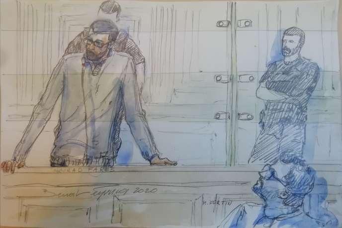 Mourad Farès, à l'ouverture de son procès, à Paris, lundi 20 janvier.