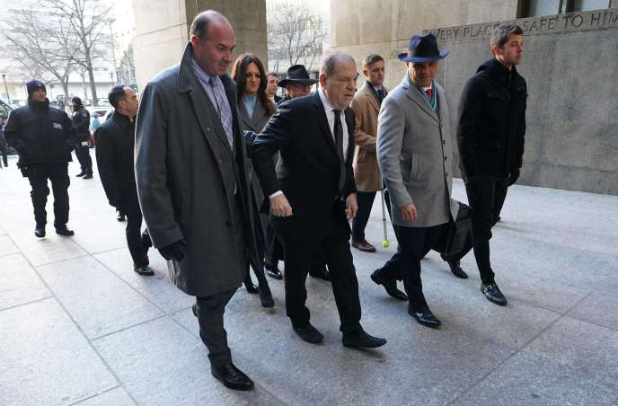 Harvey Weinstein à son arrivée au tribunal de Manhattan, à New York, le 22 janvier 202.