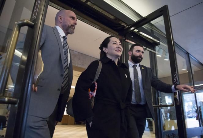La directrice financière de Huawei Meng Wanzhou arrive au tribunal de Vancouver, Canada, le 21 janvier.