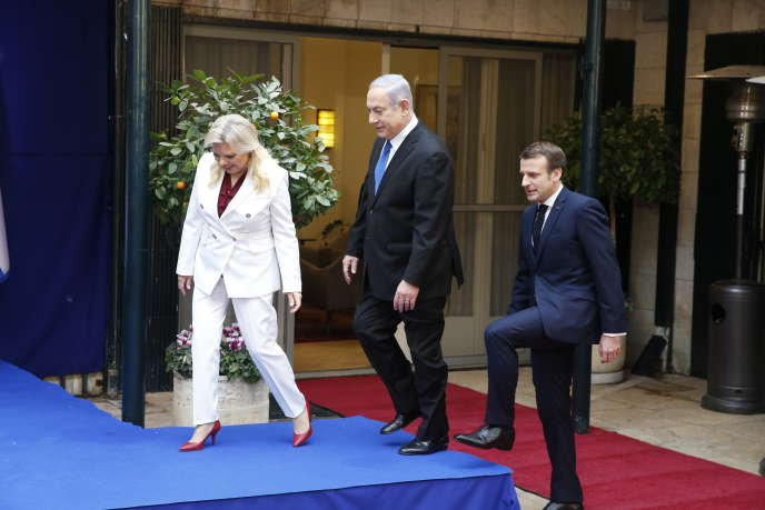 Emmanuel Macron et le premier ministre israélien, Benjamin Nétanyahou, à Jérusalem, le 22 janvier.