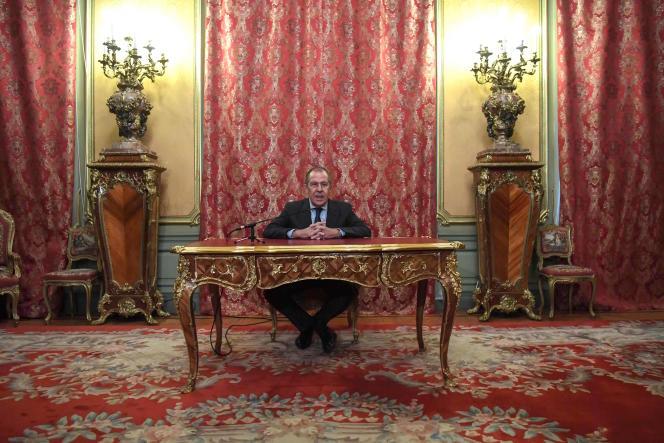 Sergueï Lavrov, à Moscou, le 14 janvier.