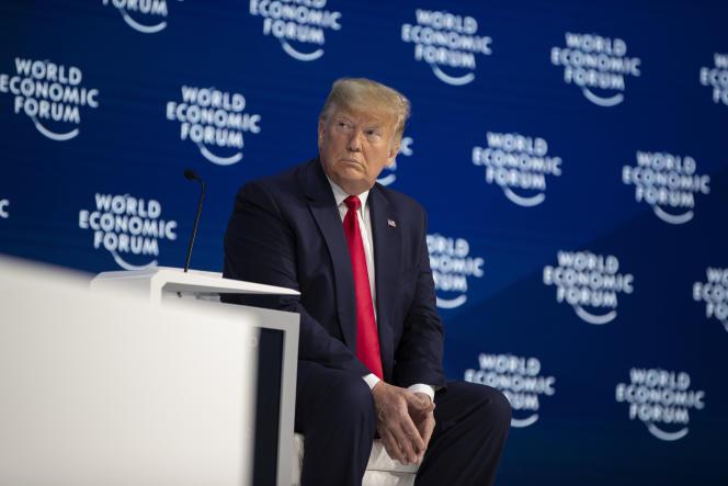 Le président Donald Trump lors du forum de Davos le 21 janvier.
