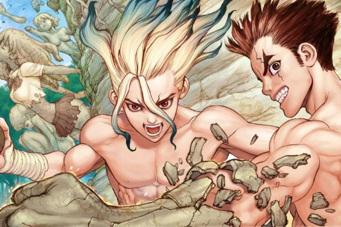 Senku et Taiju, les deux héros de «Dr. Stone».