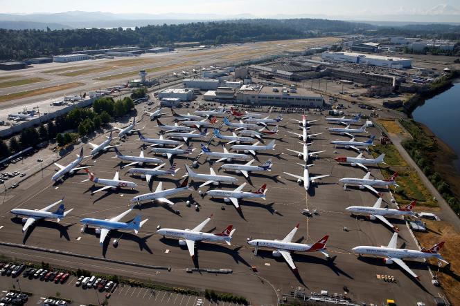 Des Boeing 737 MAX cloués au sol, à Seattle (Etat de Washington), le 1er juillet 2019.