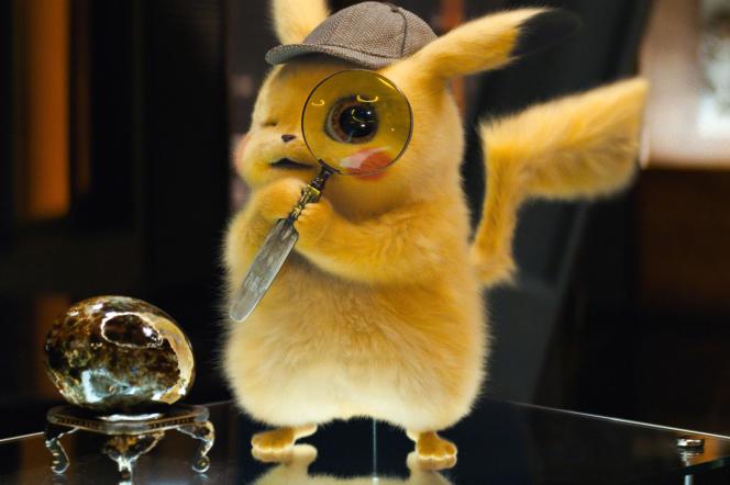«Pokémon, détective Pikachu», de Rob Letterman (2019),23e long-métrage consacré au héros en peluche jaune.
