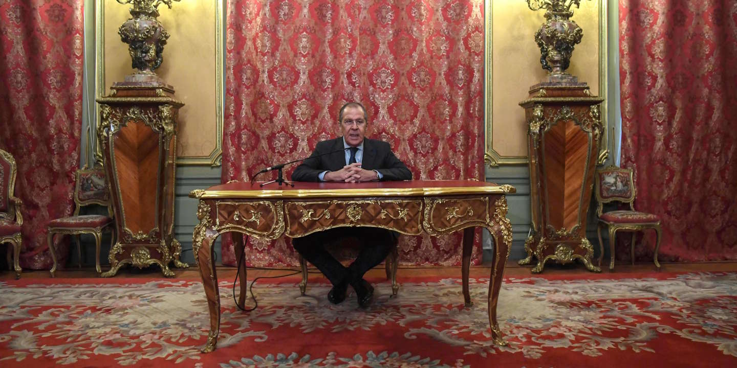 (FILES) In this file photo taken on January 14, 2019 Russian Foreign Minister Sergei Lavrov addresses the media following a meeting with his Japanese counterpart in Moscow. Russian President Vladimir Putin appointed a new government on January 21, 2020, keeping key officials including the ministers of foreign affairs and defence. / AFP / Kirill KUDRYAVTSEV