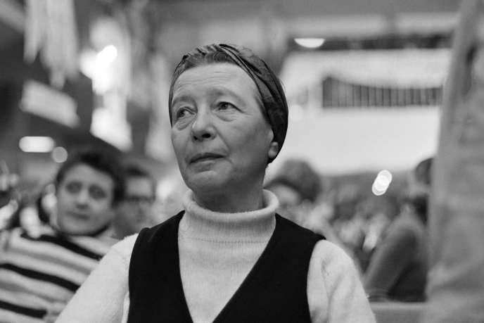 Simone de Beauvoir en décembre 1970.