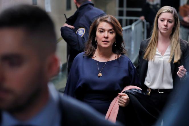 Annabella Sciorra, au tribunal pénal de New York, le 23 janvier 2020.