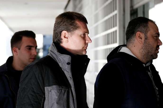 Alexander Vinnik, lors d'une audience en Grèce, le 13 décembre 2017.