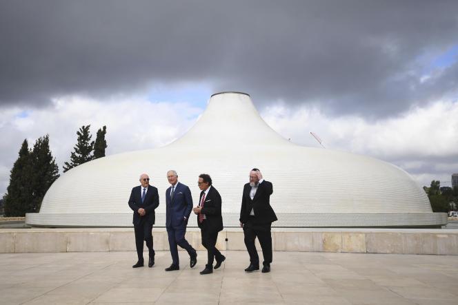 Le prince Charles au musée d'Israël à Jérusalem, le 23 janvier.