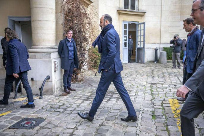 Edouard Philippe, premier ministre, au ministère du travail, à Paris, le 7 janvier.