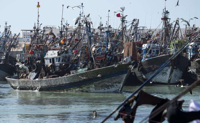 Le port de pêche de Laayoune, au Sahara occidental, en novembre 2018.