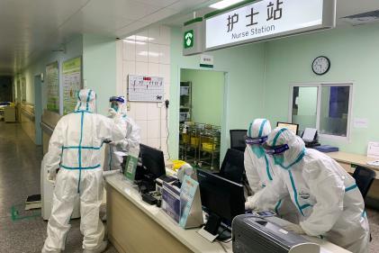 A l'hôpitalZhongnan de Wuhan, le 22 janvier.