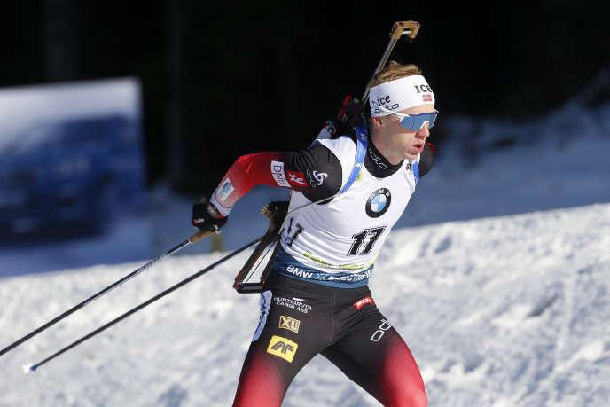Johannes Thingnes Boe, lors de l'épreuve individuelle 20km à Pokljuka (Slovénie), le23janvier.