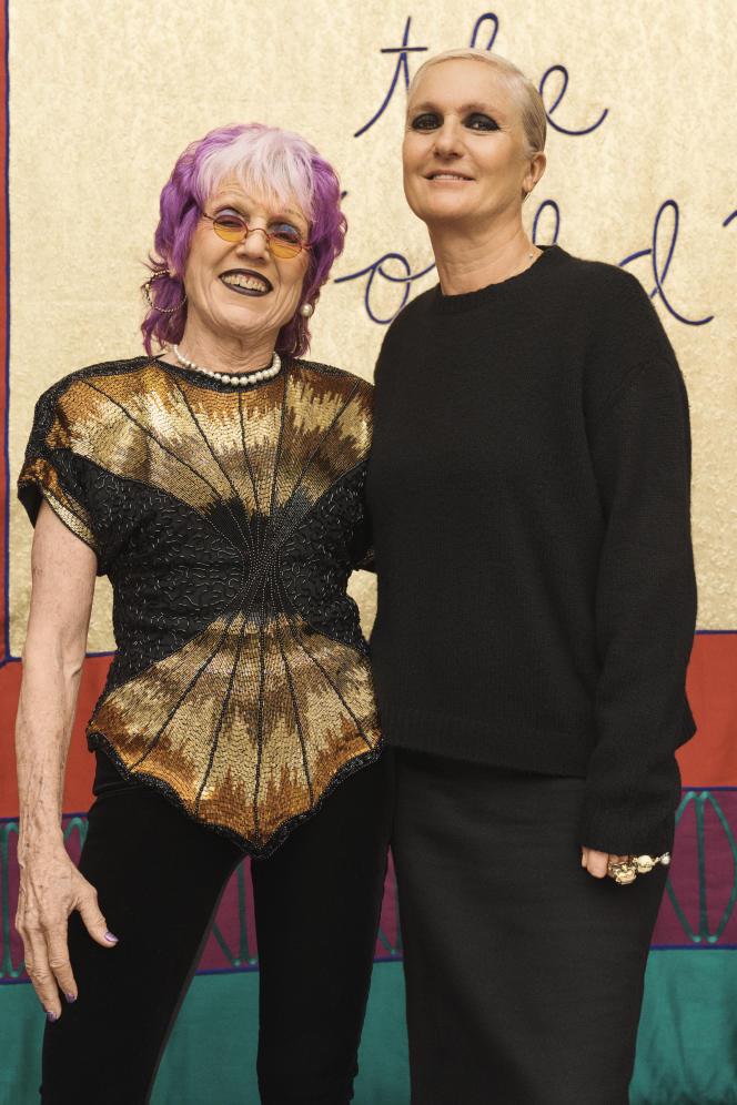 Maria Grazia Chiuri (à droite) et Judy Chicago.