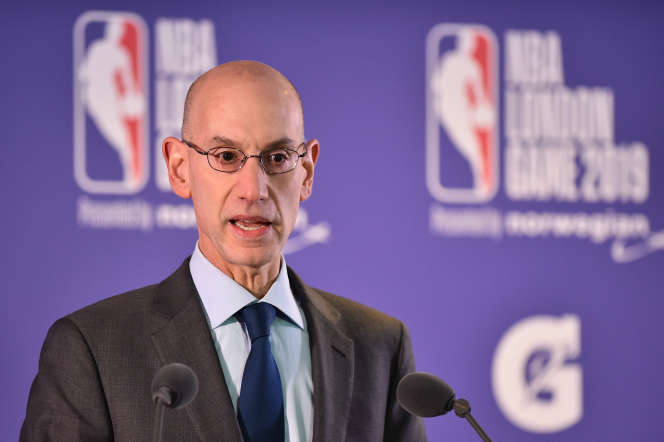 Le patron de la NBA, Adam Silver, à Londres le 17 janvier 2019.