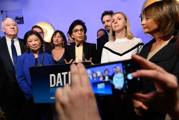 Rachida Dati lors de la présentation de ses voeux à Paris, le 18 janvier.
