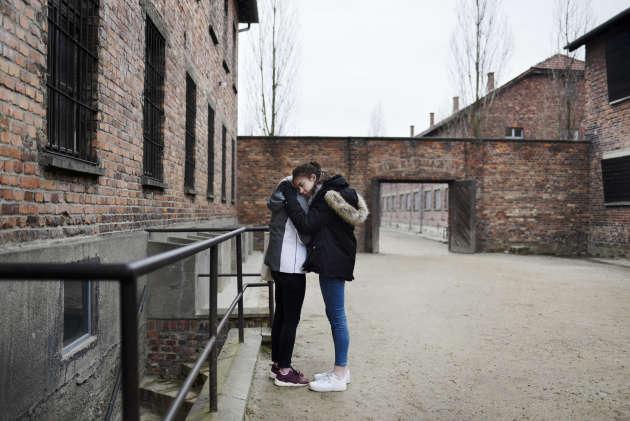 Dans le camp d'Auschwitz, le 16 janvier.