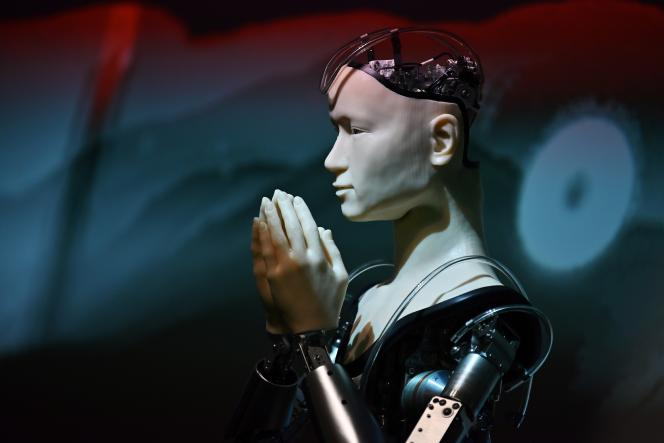 Un robot androïde à Kyoto (Japon), le 18 juin 2019.
