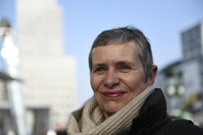 La journaliste et réalisatrice de documentaires Anne Georget, en février 2015, à la 65e Berlinale.