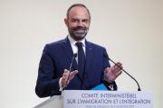 Le premier ministre Edouard Philippe lors d'une conférénce de presse sur l'immigration, à Matignon, le 6 novembre 2019.