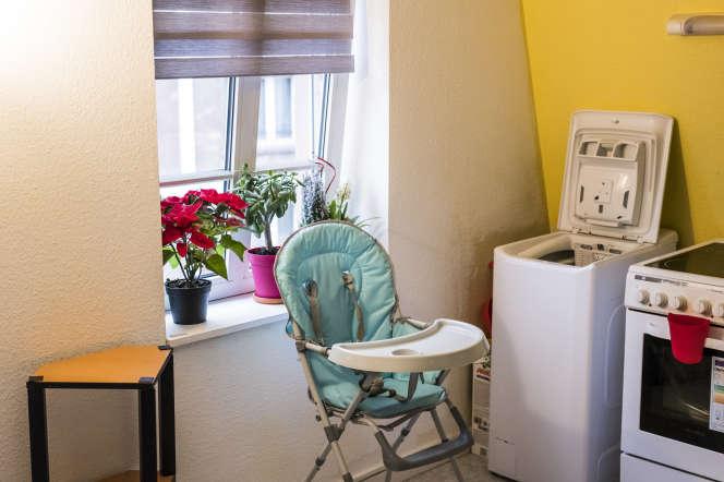 Appartement vacant remis en location par l'intermédiare de l'association SOS Amitié, à Strasbourg, le 8 janvier.