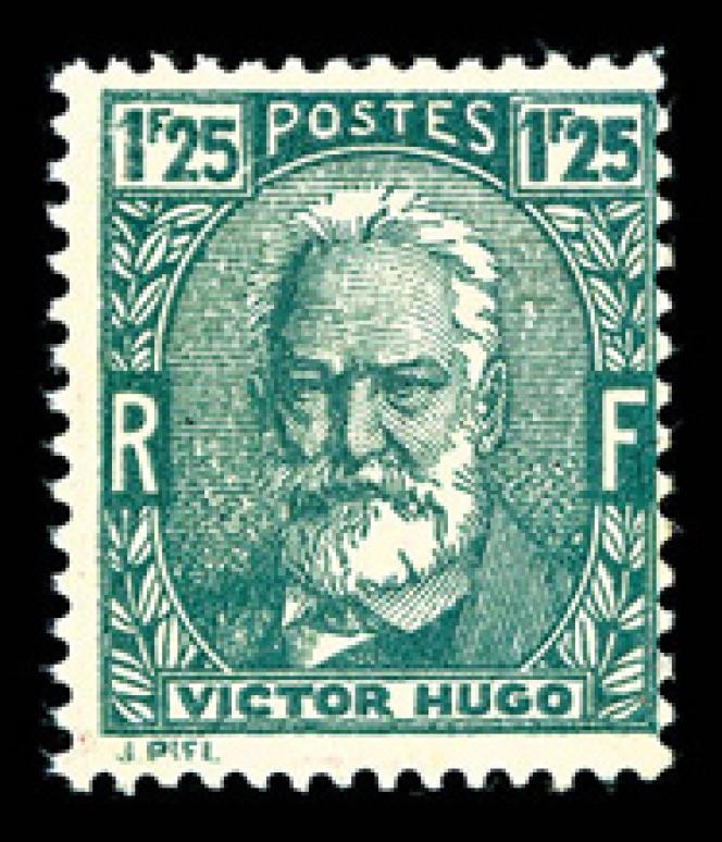 Timbre à l'effigie de Victor Hugo, modèle non émis, prix de départ 3500 euros.