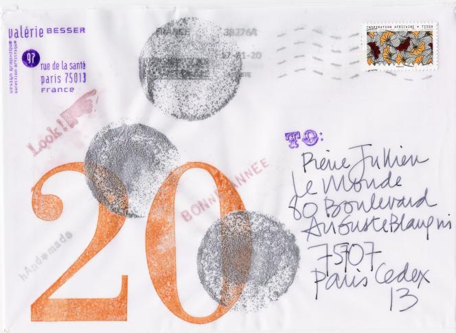 Enveloppe de la carte de voeux de Valérie Besser.