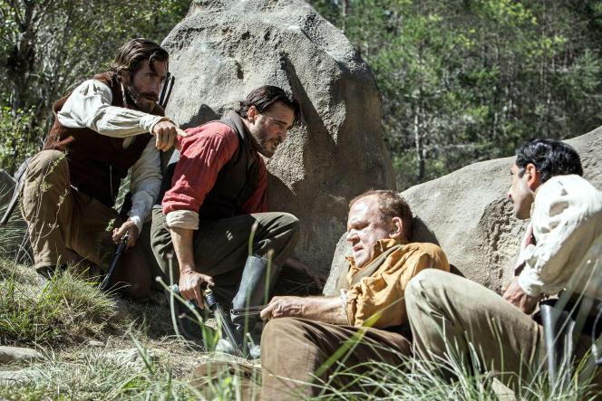 Joaquin Phoenix (au centre), dans« Les Frères Sisters », deJacques Audiard.