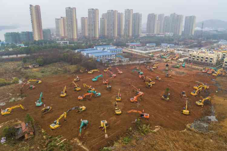 A Wuhan, le nouvel hôpital sera dédié au traitement des victimes contaminés par le virus.