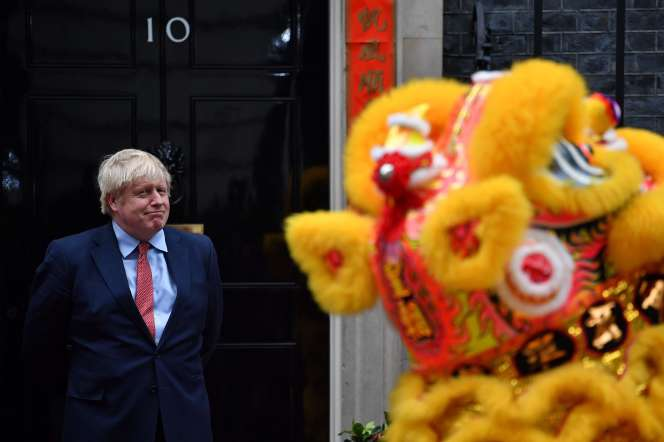 Boris Johnson lors du nouvel an chinois à Londres.