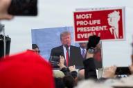 Donald Trump à la Marche pour le vie, le 24 janvier à Washington.
