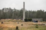 Un groupe d'étudiants visite le Mémorial de Bergen-Belsen, le 23 janvier.