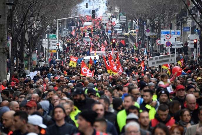 A Marseille, le 24 janvier.