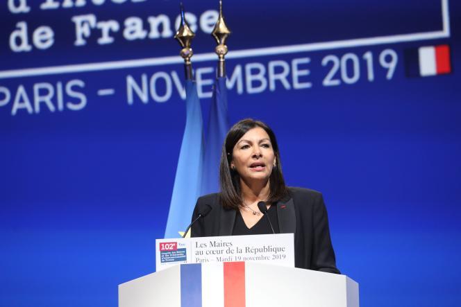 La maire de Paris, Anne Hidalgo, en novembre 2019.
