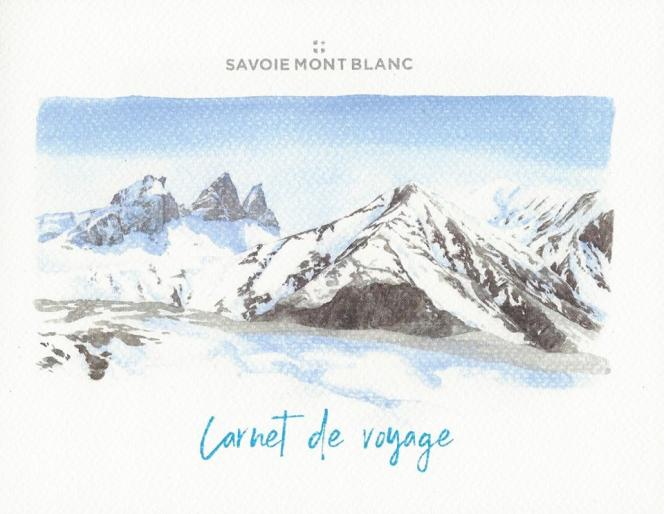 « Carnet de voyage », de Noëlle Le Guillouzic et Claudie Blanc-Eberhart (Savoie Mont-Blanc Tourisme).