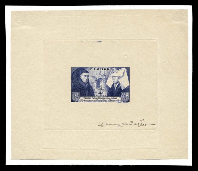 Epreuve d'artiste signée par Henry Cheffer.