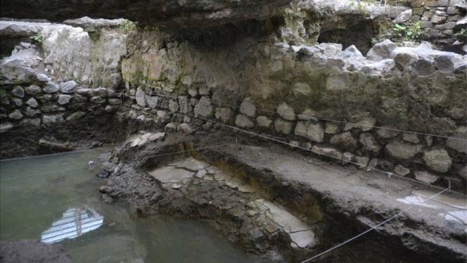 Bain de vapeur précolombien découvert à Mexico.