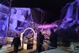 Un bâtiment effondré à Elazig, dans l'est de la Turquie, le 24 janvier, après un séisme de magnitude 6,8.