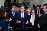 Adam Schiff s'exprime devant la presse au quatrième jour du procès en destitution contre Donald Trump, le 24 janvier à Washington.