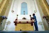 Dans l'Eglise Saint George de Bagdad, en 2004.