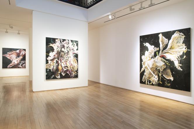 «Carne dei Fiori», de Philippe Cognée, à la Galerie Templon (Paris 3e), en 2019.