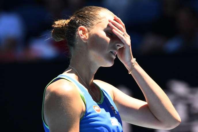 Karolina Pliskova a été battue par la Russe Anastasia Pavlyuchenkova, en deux sets, 7-6 (7/4), 7-6 (7/3).