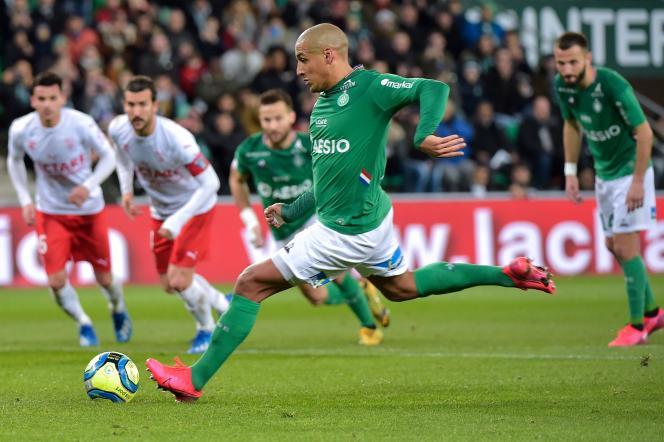 Wahbi Khazri samedi 25 janvier au stade Geoffroy-Guichard de Saint-Etienne.